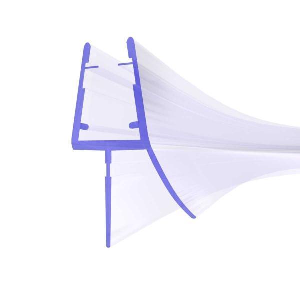 Steigner Joint de douche UK03 arrondi-courbé vers la vitre de l'épaisseur 6-8 mm