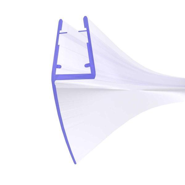Steigner Joint de douche UK04 arrondi-courbé vers la vitre de l'épaisseur 3,5-5 mm