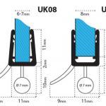Joint de douche UK08 arrondi-courbé nr.3