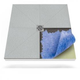 Receveur de douche avec tapis d'étanchéité avec drainage central