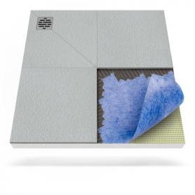 Receveur de douche avec tapis d'étanchéité avec drainage d'angle décentralisé