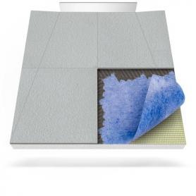 Receveur de douche avec tapis d'étanchéité et drainage mural