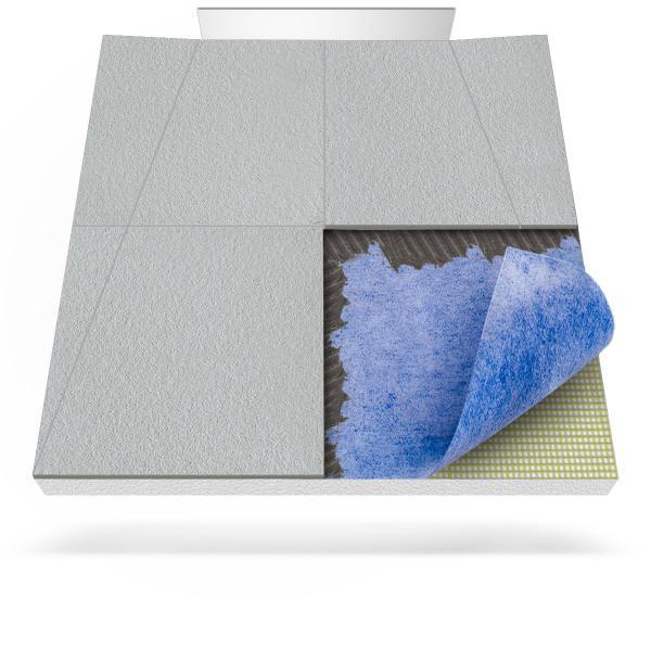 Steigner Receveur de douche avec tapis d'étanchéité et drainage mural