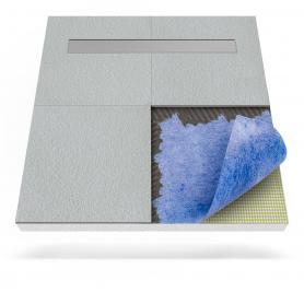 Receveur de douche avec tapis d'étanchéité et drainage linéaire