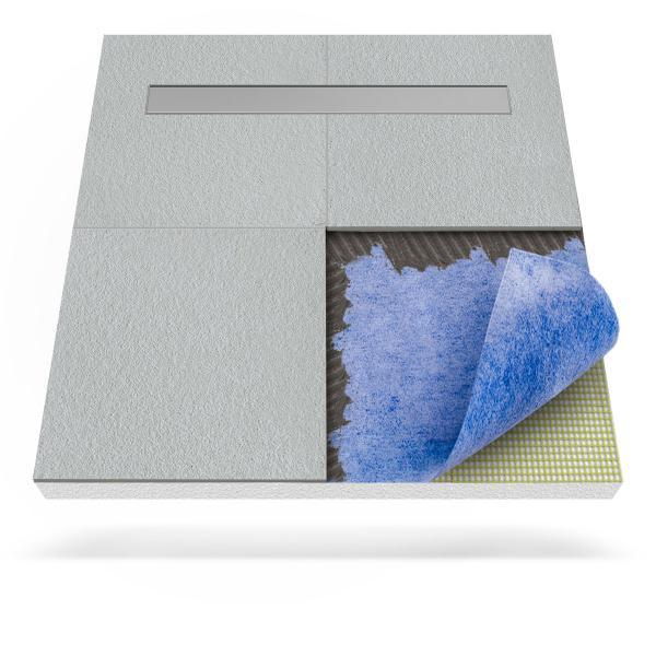 Steigner Receveur de douche avec tapis d'étanchéité et drainage linéaire
